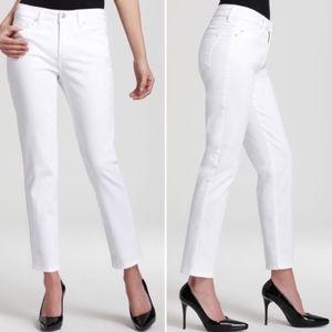 "NYDJ white Alisha Ankle jeans 8 27"" inseam"